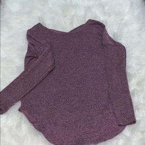 Purple long sleeve shirt!